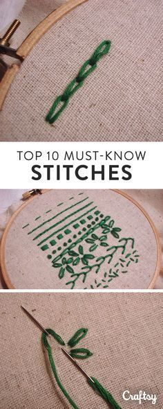 Do you know how to sew these top 10 hand embroidery stitches?