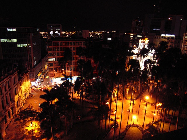 Caicedo Plaza at night. Cali, Colombia