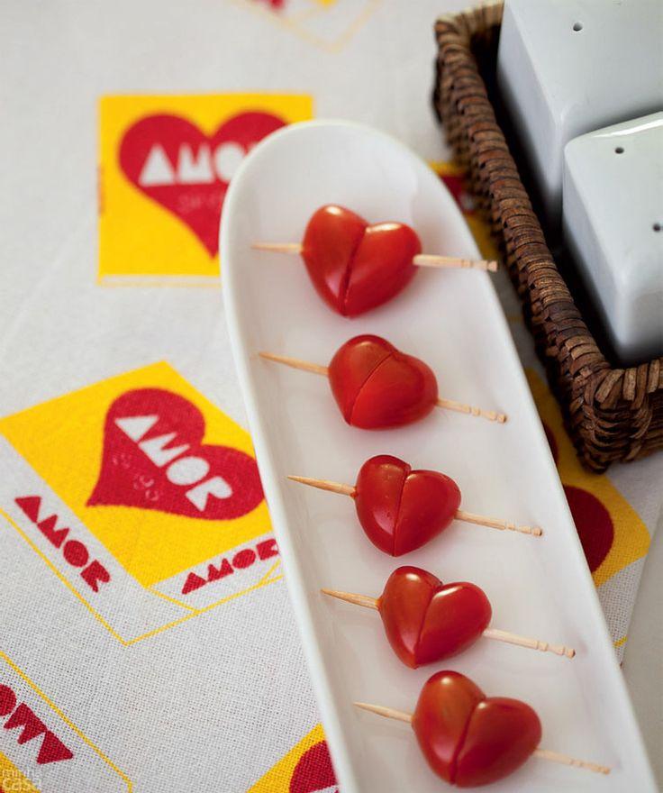Que tal encantar com uma entrada de tomate-cereja?: Home, Input, Uma Entrada, Tomate Cereja, Good, Culinary, Party, Tomatoes, The Roller Coasters