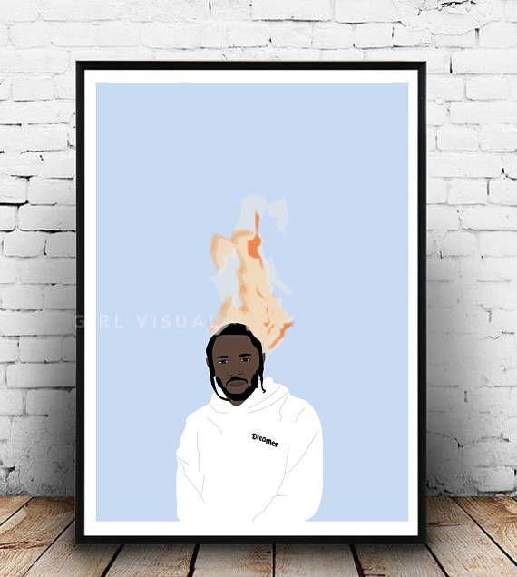 Kendrick Lamar Damn Merch Humble poster, Kendrick Lamar hip hop damn humble print, Kendrick Lamar poster, Kendrick Lamar Damn album poster