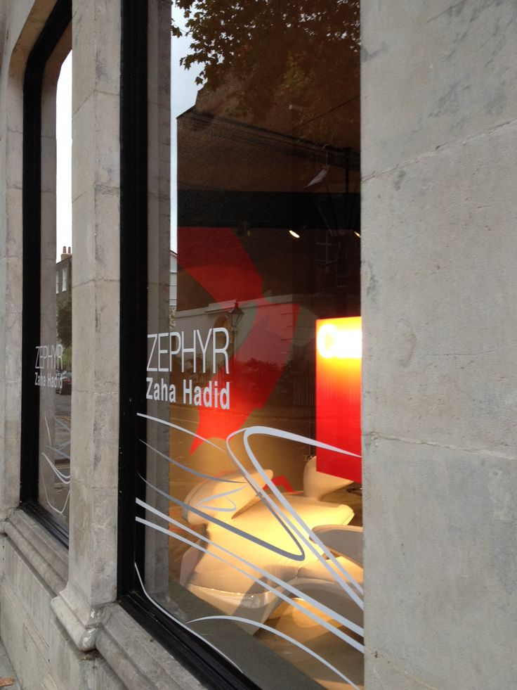 Cassina showcases the Zephyr project designed by Zaha Hadid and produced by Cassina Contract at its London showroom in Knightsbridge
