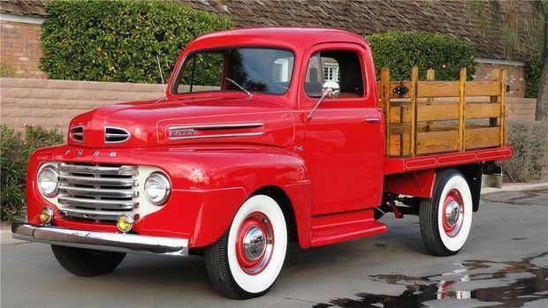 1950 Ford Stakebed Pickup I Like Muscle Cars But I Love Old Restored Trucks More Classic Trucks Ford Trucks Ford Pickup