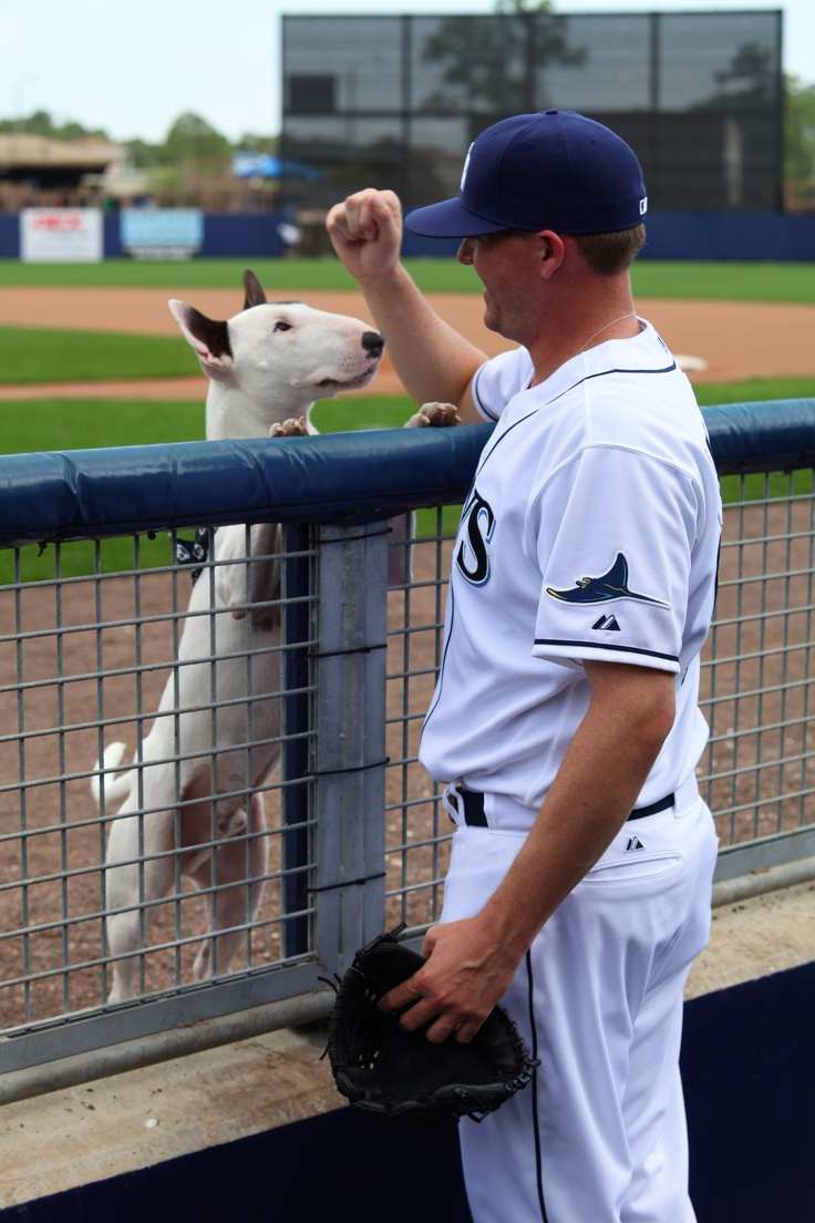 Jake McGee and his Bull Terrier!