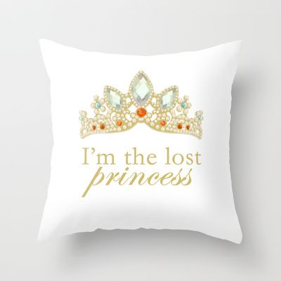 The Lost Princess Throw Pillow by lunalalonde - $20.00 Disney Tangled Rapunzel