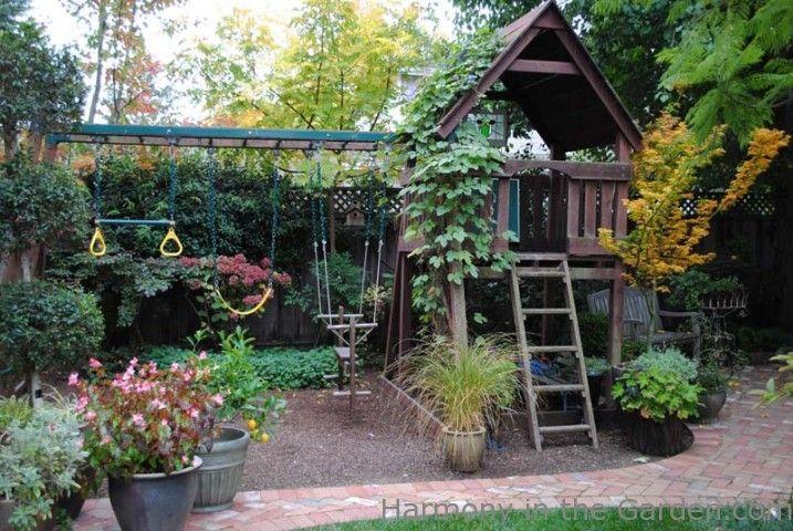 Garden Designers Roundtable: Our Home Gardens — Gossip in the Garden. Play Area. Deborah Sweet's Garden.