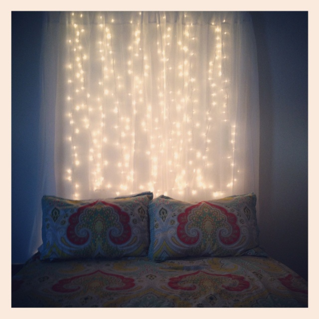 My bedroom! Found this idea on pintrest and now I'm repining my own! Soo easy and cheap!