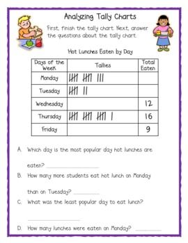 Here are two pages for students to practice working with tally chart data.
