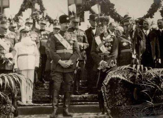 BU-F-01073-1-00359-04 Principele Carol al II lea, generalul Petală, amiralul Scodrea, mareşal Averescu la o manifestare, s. d. (sine dato) (niv.Document)