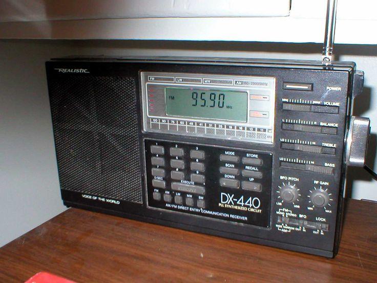 Realistic DX-440 Synthesized AM-Shortwave-FM Portable Radio Receiver.