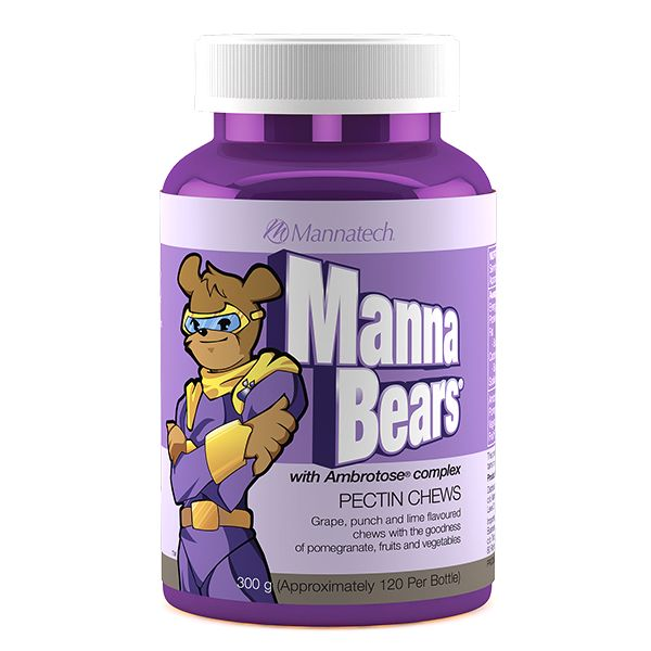 MannaBears® | Mannatech  Let's face it — kids go for taste, not necessarily nutrition. MannaBears supplements have been formulated to provide the nutrients of 10 different dehydrated fruits and vegetables to support the nutritional needs of a growing body.   http://au.mannatech.com/real-products/health/mannabears/