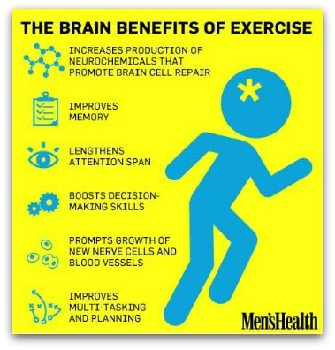 brain benefits of exercise  (@Jamie Harris notice number 2 on the list ;-)