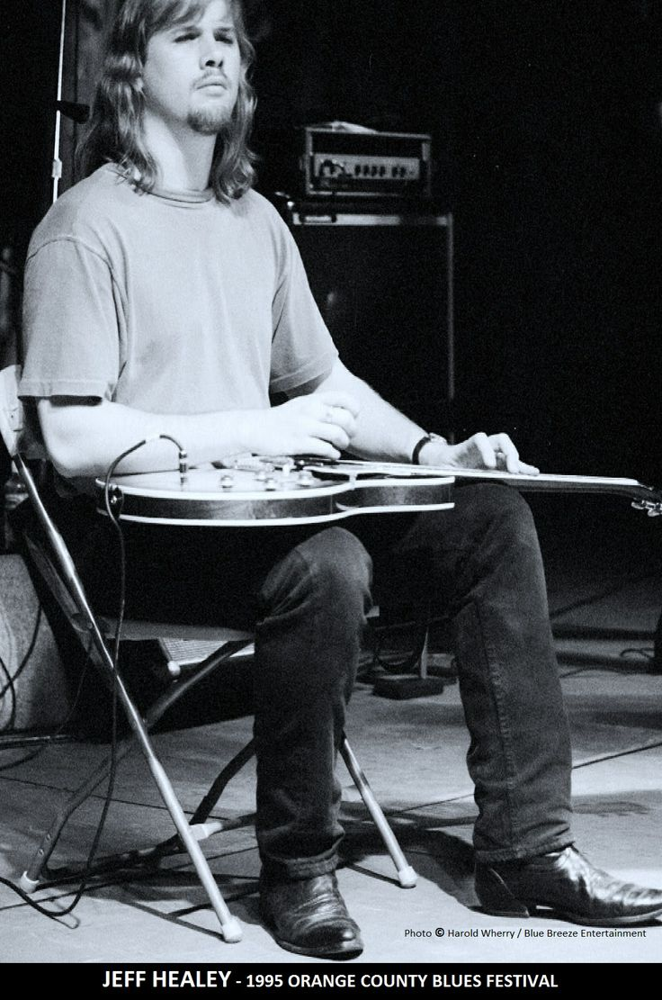 "Jeff Healey , awesome guitar player and blues singer from the movie "" Roadhouse ""!"