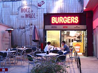 Hole in the Wall Burger Joint- Lord, I love burgers.