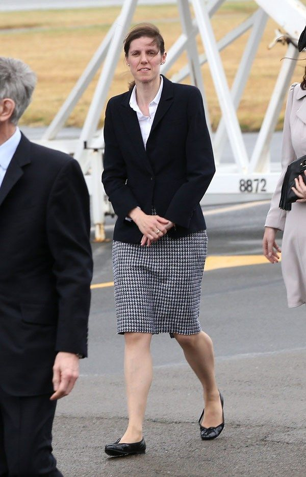 Maria Borrallo (Prince George's Nanny) arrives in New Zealand at Wellington Airport on April 7, 2014 in Wellington, New Zealand. The Duke an...