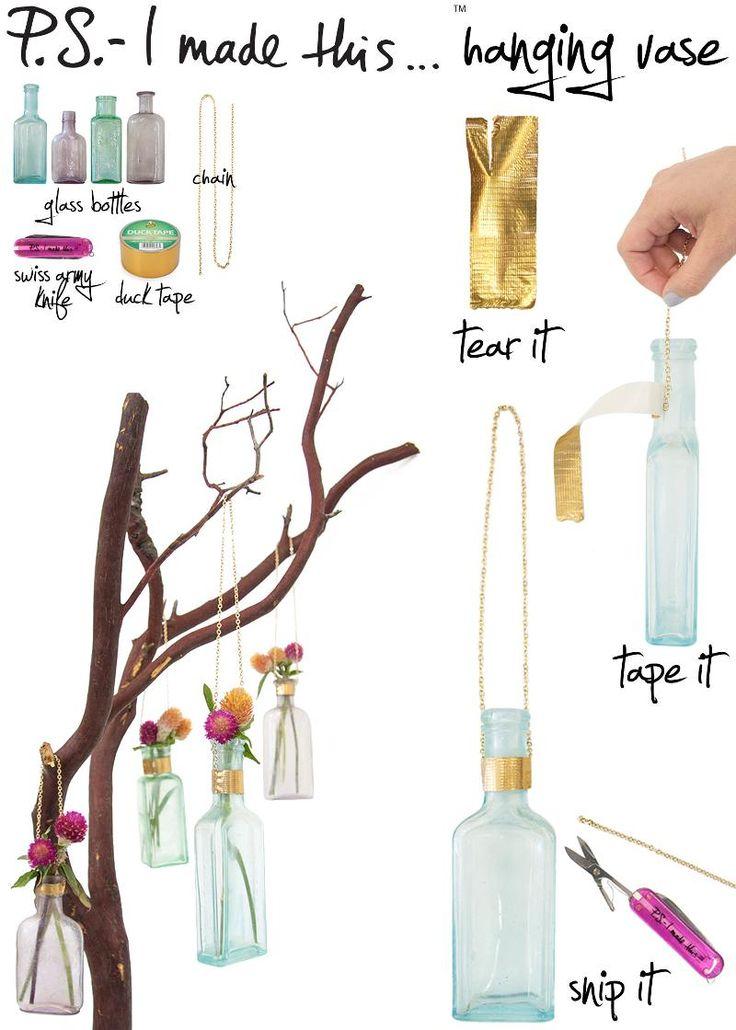 P.S.- I made this...Hanging Vase- DIY hanging vases