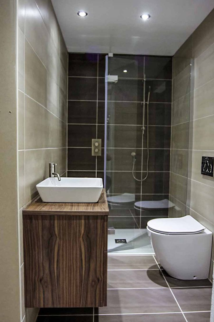 A luxury small bathroom with walkin shower