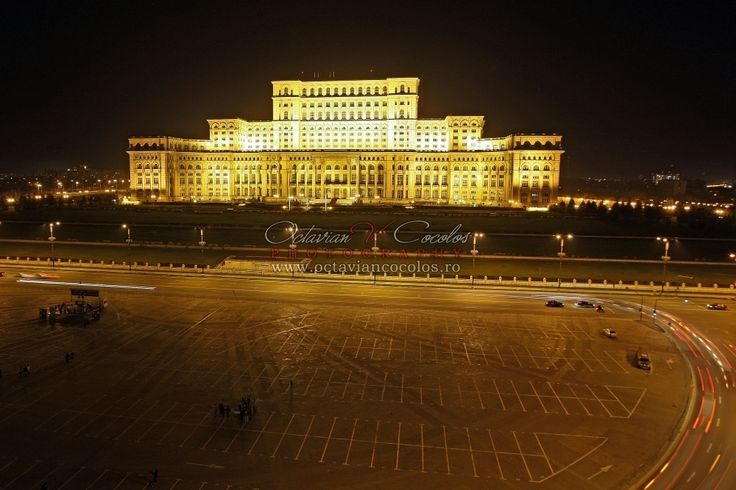 General view of the Parliament Palace building in Bucharest, Romania, March 2009. It was built by Nicolae Ceausescu, and originally intended as his personal residence.