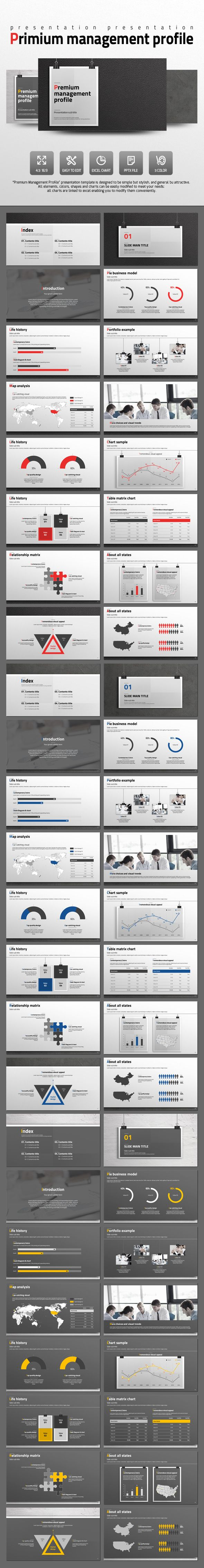 Premium Management Profile - PowerPoint Template #design #slides Download: http://graphicriver.net/item/premium-management-profile/14096673?ref=ksioks