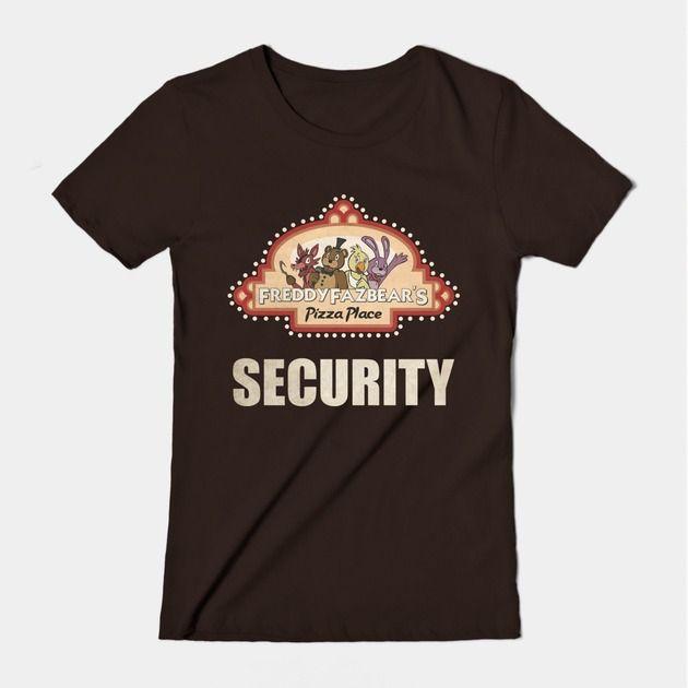 Freddy Fazbear Pizza Logo Security Shirt Five Nights at Freddy's