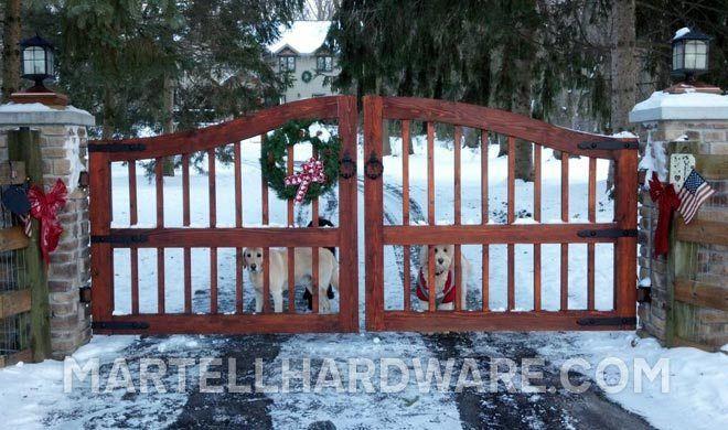 Lake Geneva, WI - Driveway Gate Wrought Iron Faux Hardware - Agave Ironworks