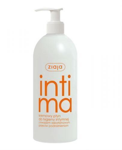ZIAJA INTIMA Kremowy płyn do higieny intymnej z kwasem askorbinowym - 500 ml  - Apteka internetowa Melissa