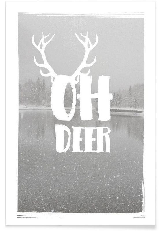 Oh Deer als Premium poster door Maren Kruth | JUNIQE