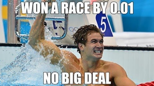 No one understands 0.01 like swimmers do.