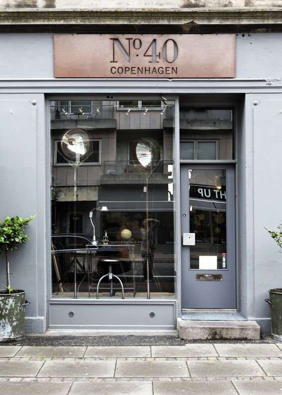№ 40 COPENHAGEN ~ French industrial vintage heaven at № 40 on Gammel Kongevej. Shop selling beautiful industrial design objects.