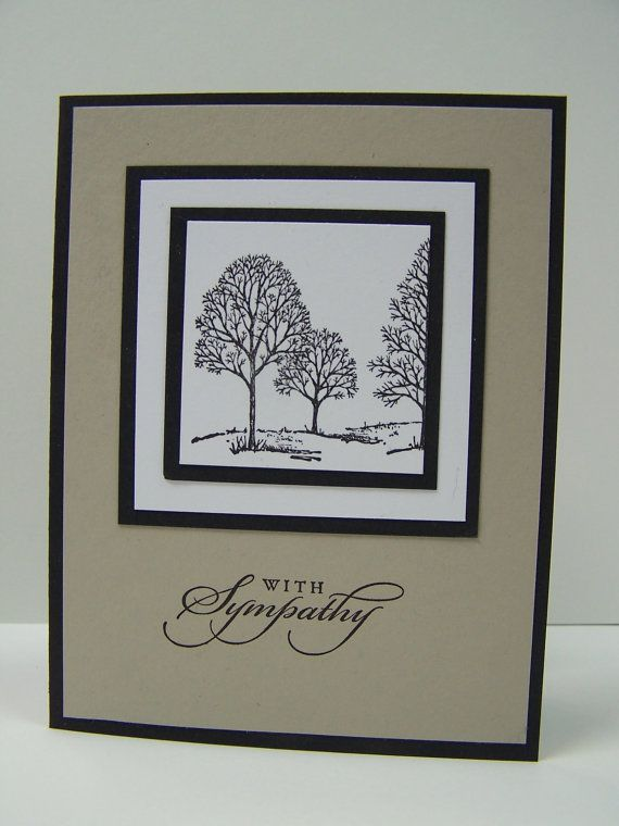 Stampin Up Handmade Greeting Card: Sympathy Card, Condolence Card, With Sympathy, Thinking of You, Funeral, Masculine