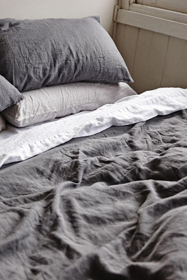 Linen Duvet Cover King - Charcoal - Superette   Your Fashion Destination.