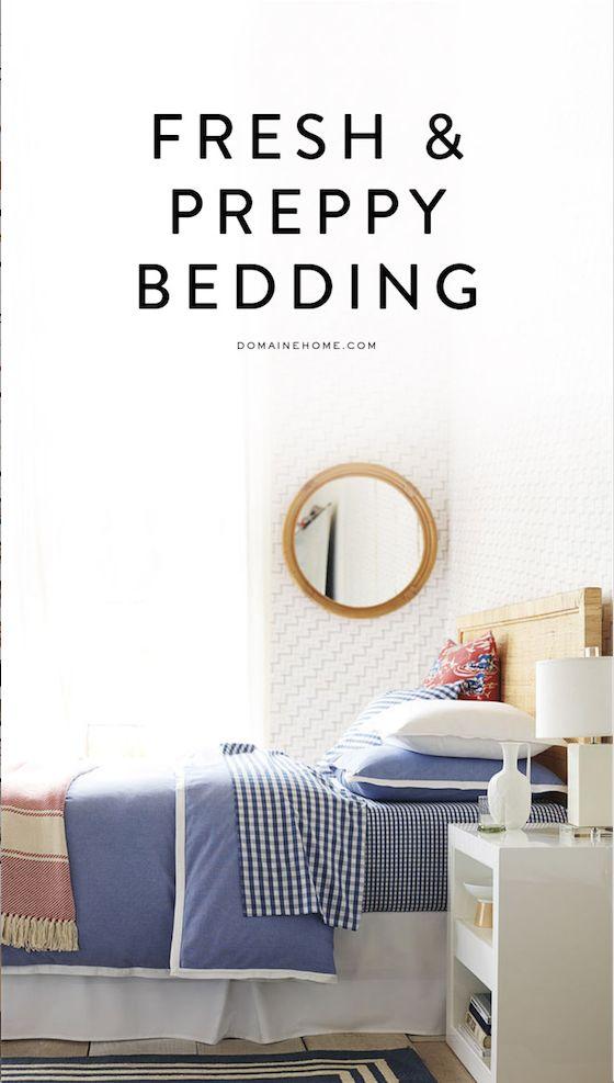 The freshest preppy bedding around
