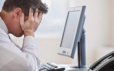 Frustrated office employee