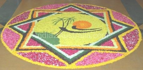 Onam , onappookkalam , onam flower carpet , onasadhya , onam celebration