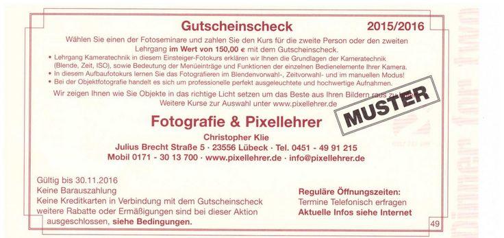 Lehrer für Fotografie Lübeck