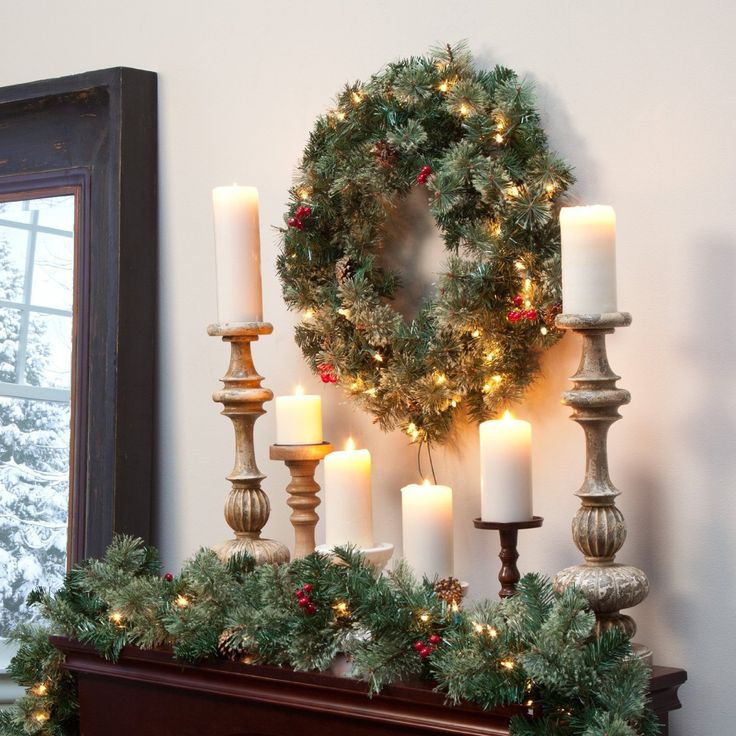 Finley Home 24 in. Classic Pine Pre-lit Wreath with Berries and Pine Cones - http://www.christmasshack.com/christmas-wreaths/finley-home-24-in-classic-pine-pre-lit-wreath-with-berries-and-pine-cones/