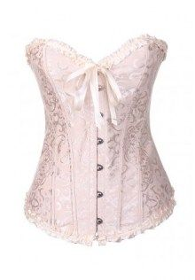 Embroidered Ruffled Trim Bustier