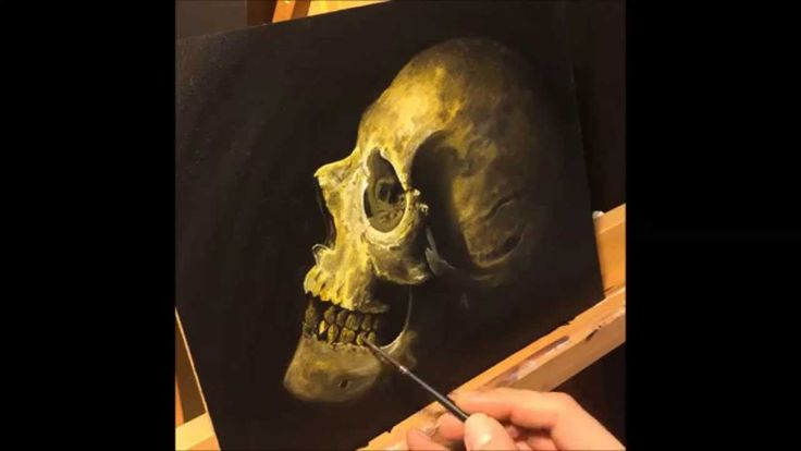 how to paint a skull no2 by gege boristattoo