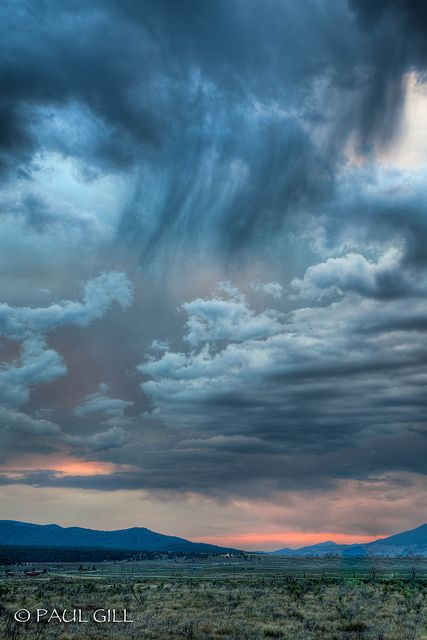 Monsoon storm at sunset in Angel Fire, New Mexico