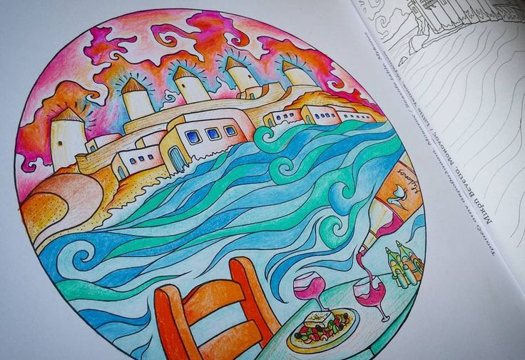 I tried colouring a page of my own #adultcoloring book!…