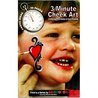 How To Face Paint Book, 3 Minute Cheek Art by SnazarooUSA. $22.82. BOO3MIN Features: -Paint book.-Featured trainer Roberta Mandella.-Great step by step photos.-Easy to read.-55 Pages.-Learn 150 cheek art designs.-Printed in USA. Dimensions: -Dimensions: 8.5'' H x 5.5'' W x 0.125'' D.