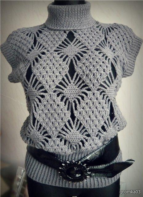 Love the shape/large pattern combo!    chaleco