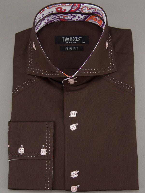 2095 T&B Shirt-Brown
