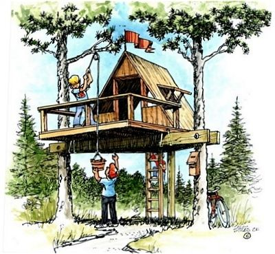Downloadable Treehouse Plans - Plans For Treehouses And Playhouses.