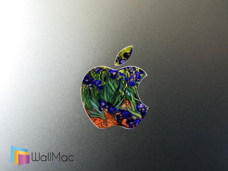 Vincent van Gogh Irises Painting Backlit Apple Logo for MacBooks 2 Decals per Order by WallMac on Etsy