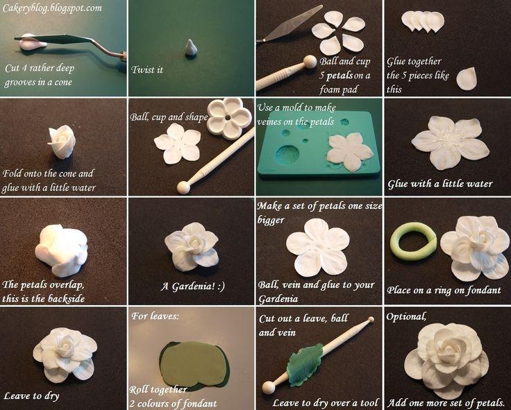 How to make Gardenia sugar flower