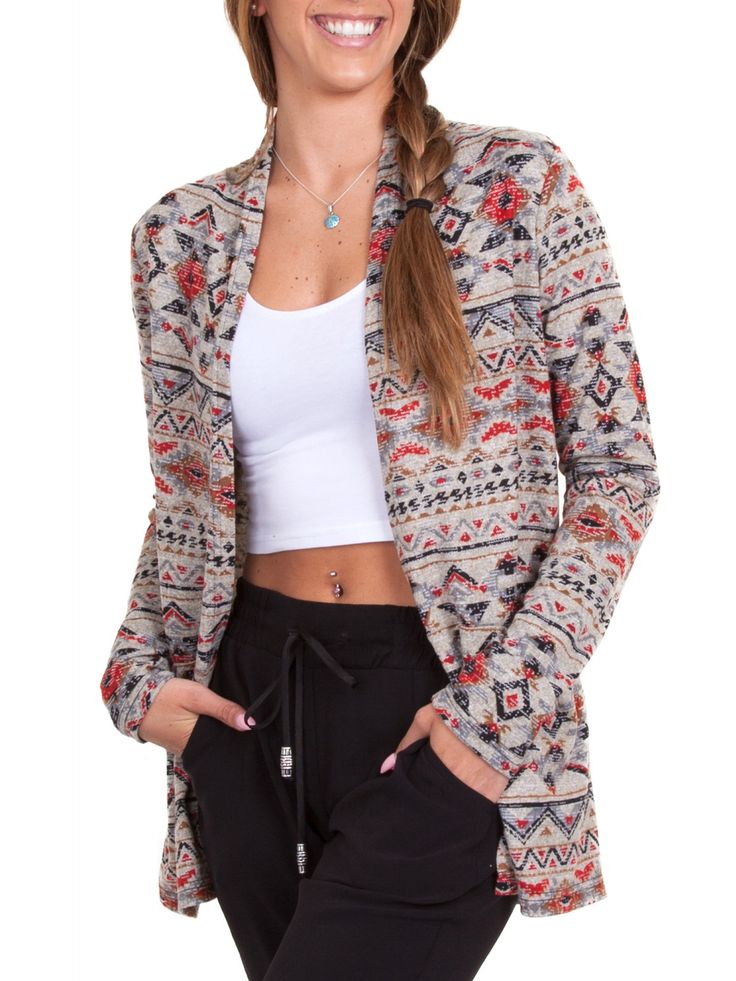 Jalie 3677 - HÉLÈNE - Shawl Collar Cardigan in a Printed Sweater Knit