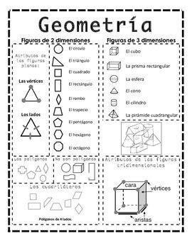 Spanish immersion teachers are always creating and recreating most of the materials they use in their classroom. I created this handout to review concepts related to 2D and 3D shapes. I was able to enlarge it using a poster maker machine and I know use it as an anchor chart.