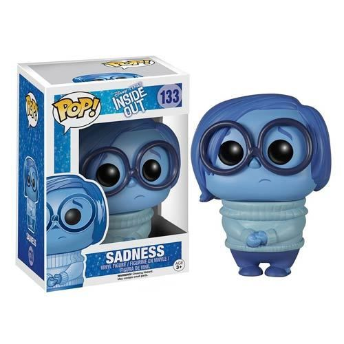 This Inside Out Sadness Disney-Pixar Pop! Vinyl Figure features the sorrowful side of Riley Anderson as the emotion voiced by Phyllis Smith and is approximately 3 3/4-inches tall. Disney Pixar's Inside Out animation is the story of a young girl who is ruled by her emotions, and the growing pains she encounters. The story is told from the perspective of the emotions inside her mind. #nesteduniverse