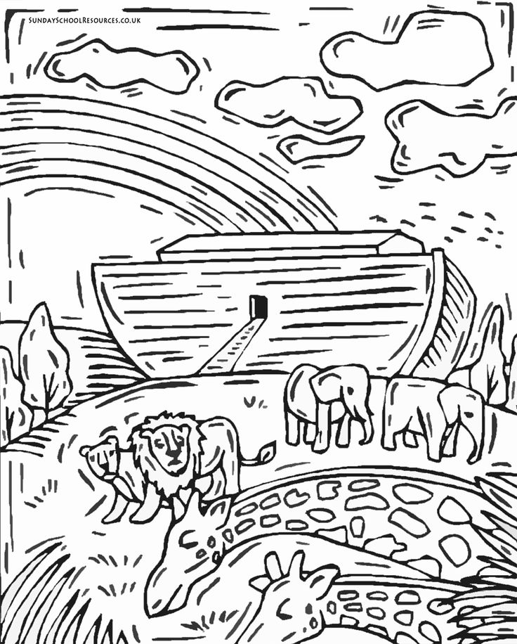 sunday school coloring page noahs ark