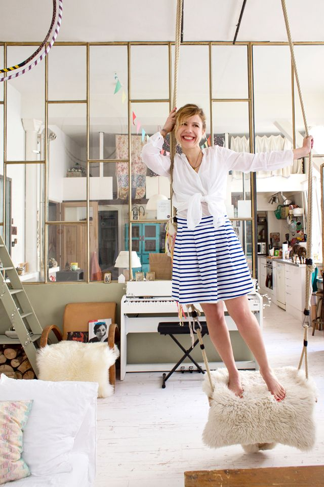 The new Petit Bateau striped skirt, as seen on French blog Inside Closet - http://www.petit-bateau.fr/?CMP=SOC_11732&SOU=&TYP=SOC&KW=pinterest #petitbateau #insidecloset #stripedskirt